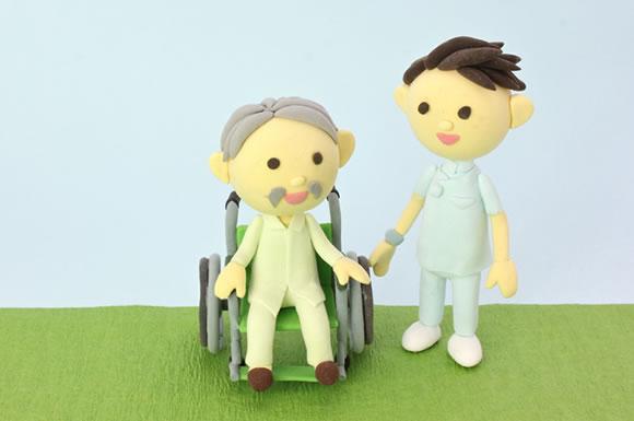 介護士と利用者