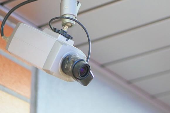 盗難防止の監視カメラ